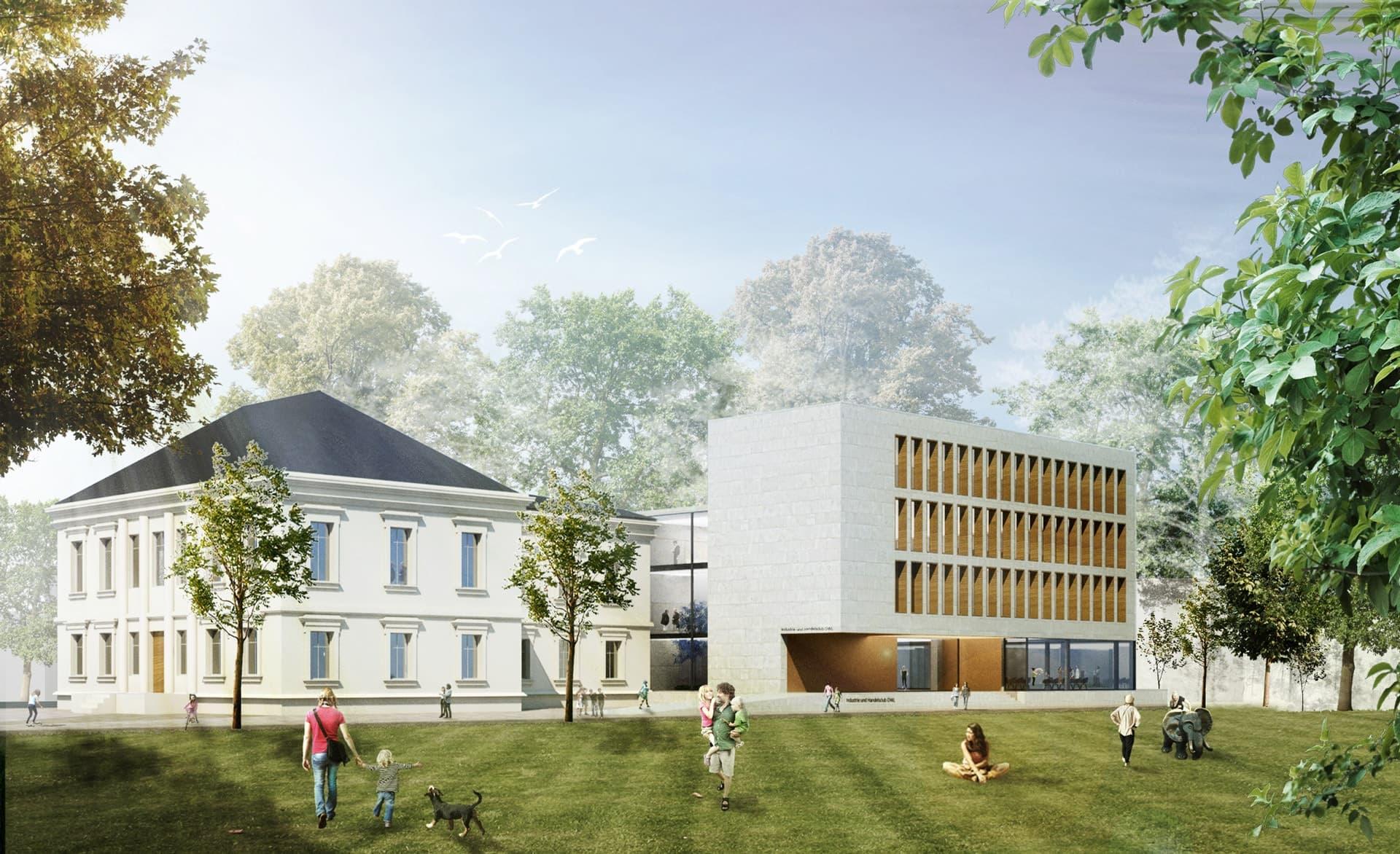 Villa weber visualisierung bhp architekten generalplaner gmbh br chner h ttemann pasch in - Bhp architekten ...