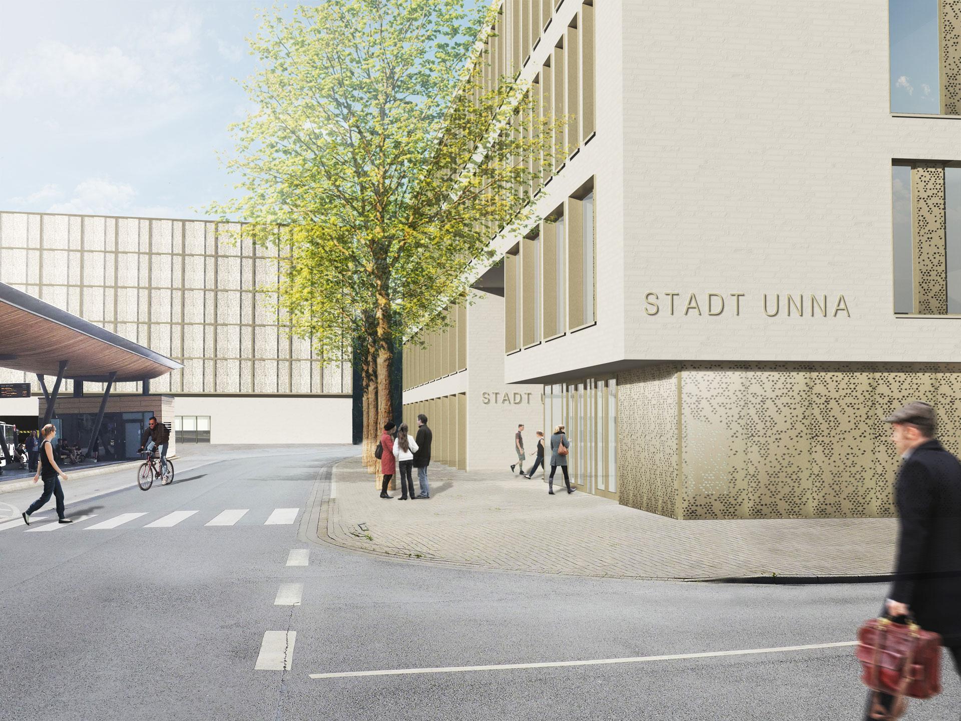 Neubau Verwaltungsgebäude und Parkhaus in Unna